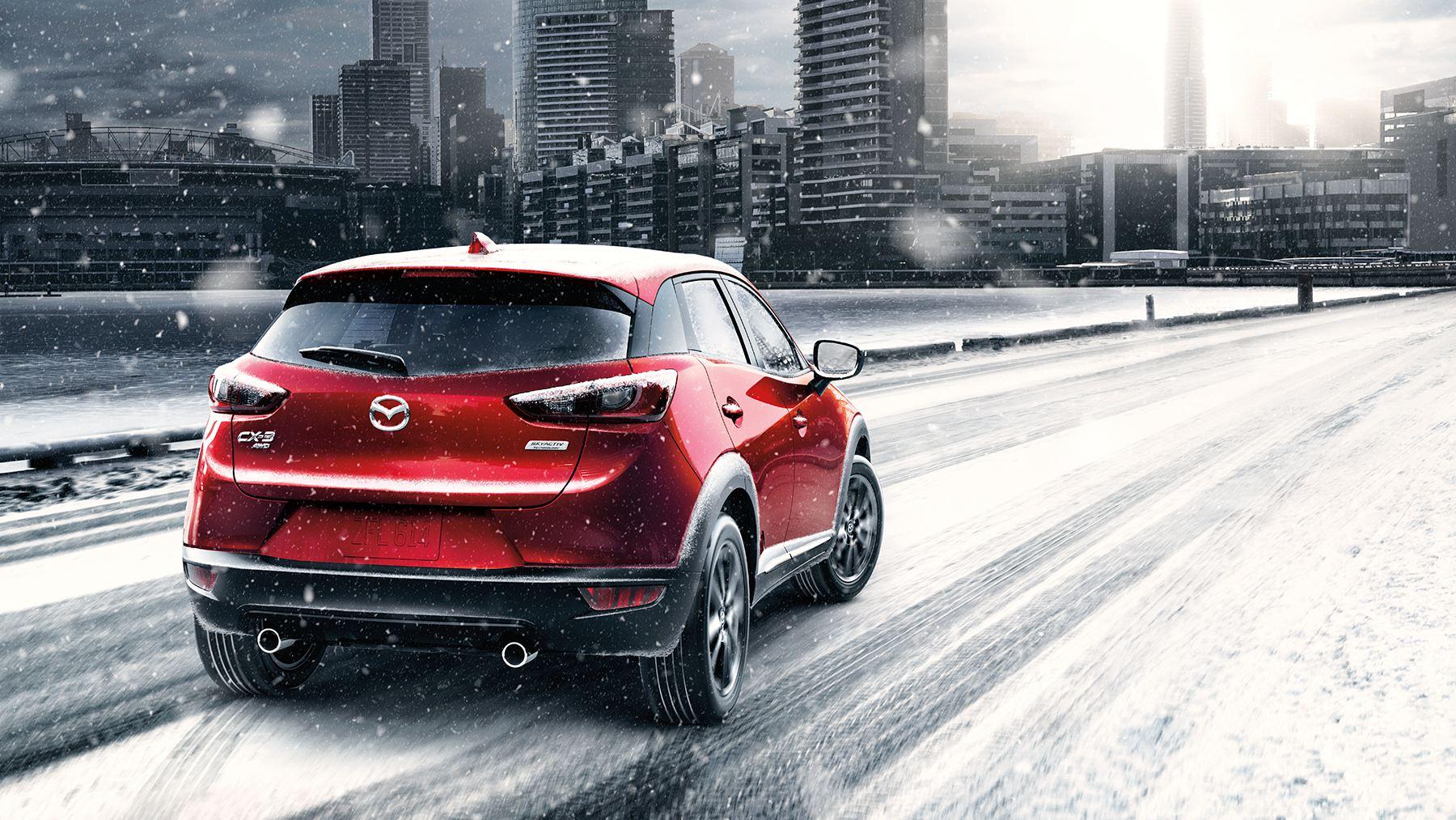 El Mazda CX-3 2017 en la nieve