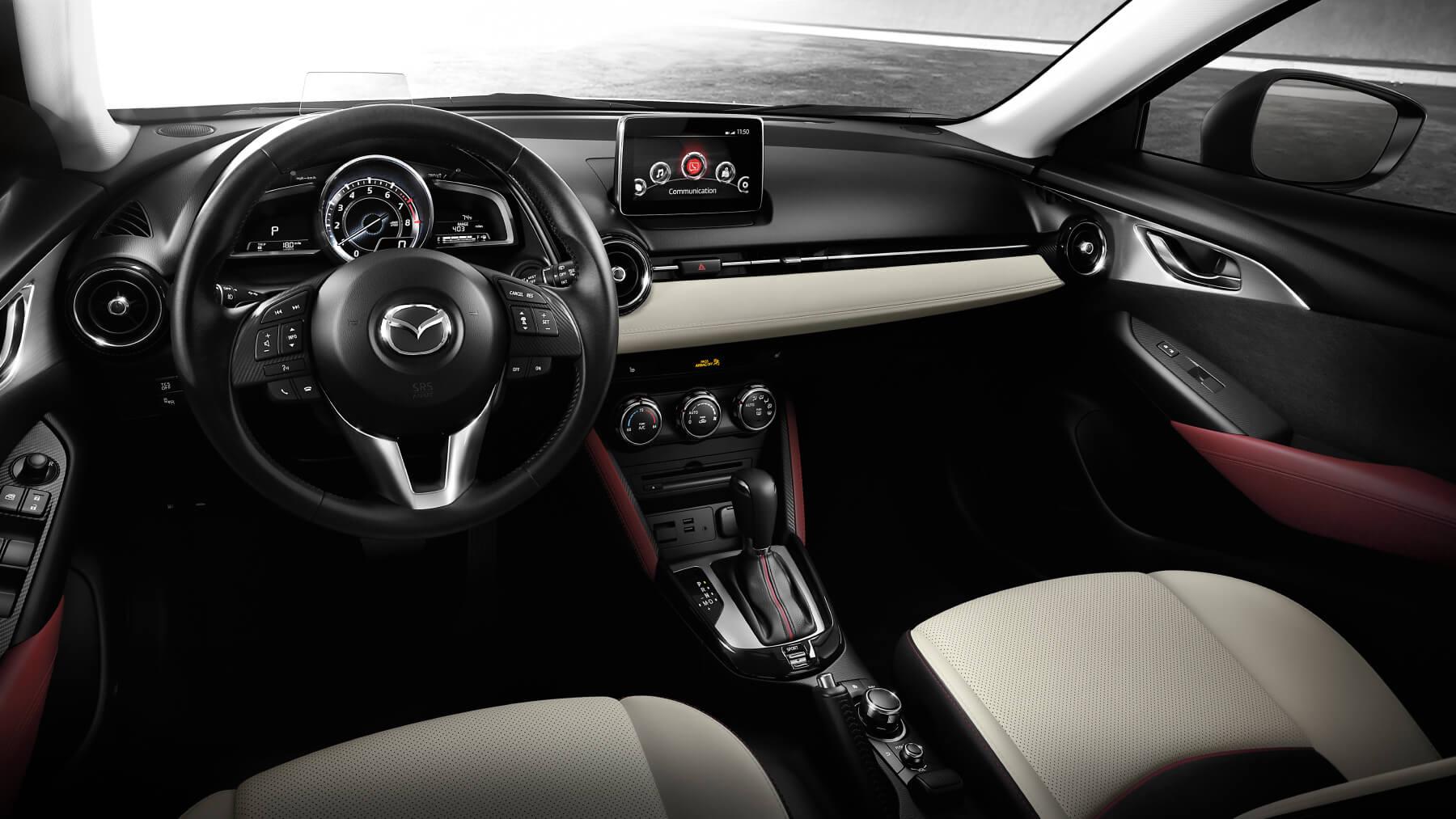 Mazda cx 3 crossover subcompacto 2017 utilitarios compactos mazda usa for Mazda 3 2017 hatchback interior