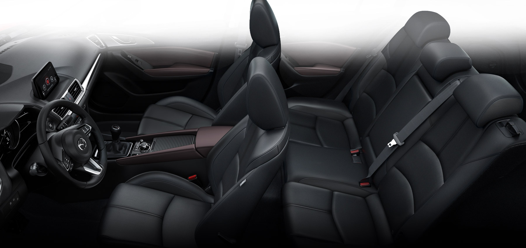 Mazda 2017 3 sedan auto compacto con consumo de combustible eficiente mazda usa for Mazda 3 2017 hatchback interior