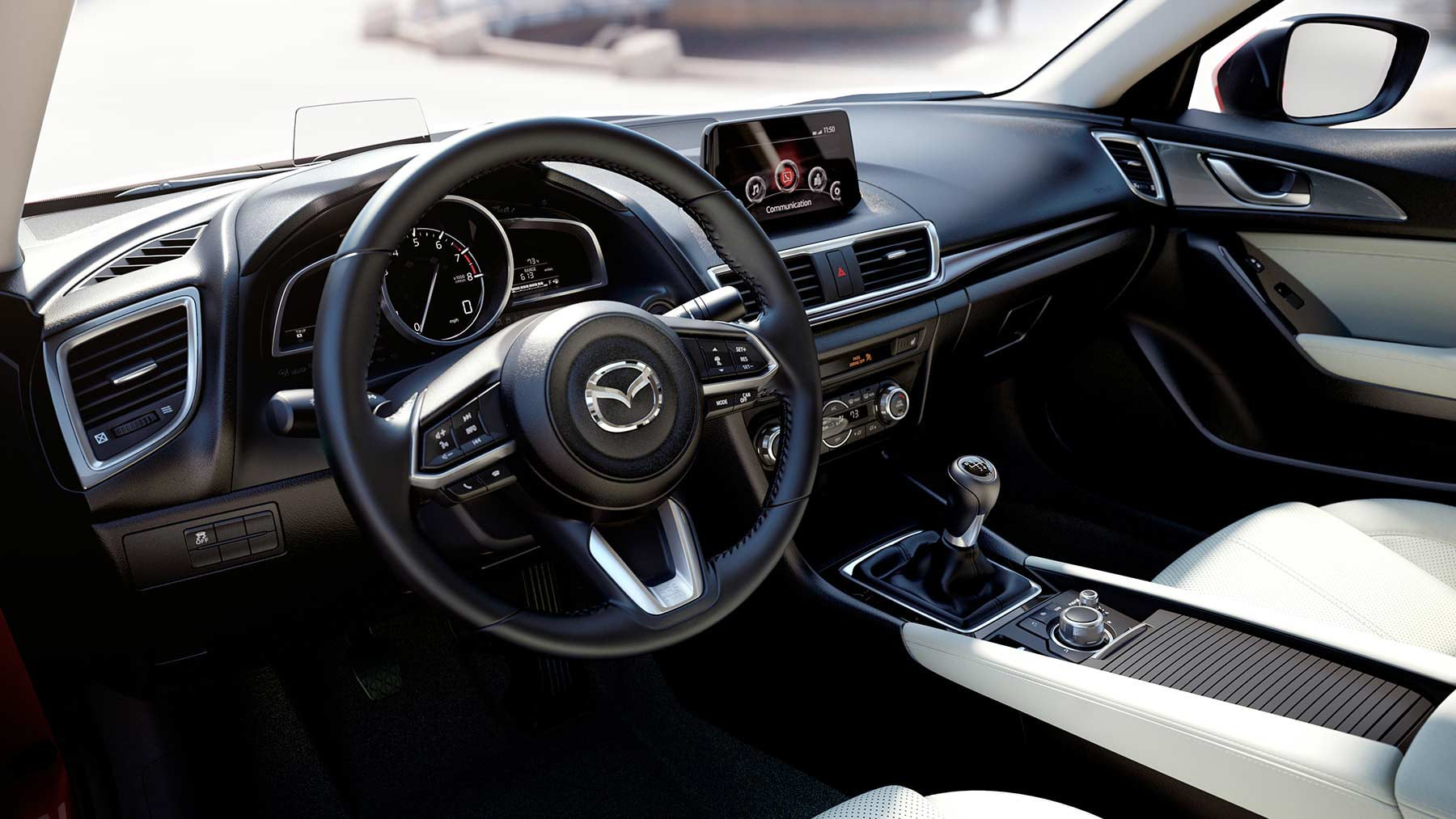 2018 mazda 3 hatchback fuel efficient compact car for Interior site